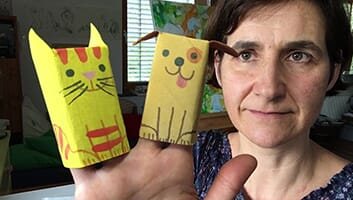 Toilet Paper Roll Crafts – Paper Cat and Paper Dog  - Thumbnail